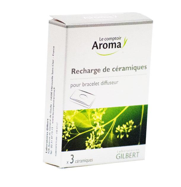 Le Comptoir Aroma Recharges de Céramiques pour Bracelet Diffuseur 3 unités