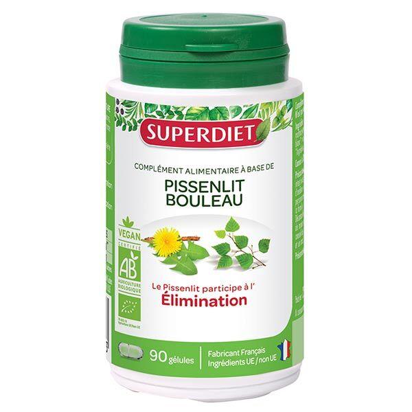 Superdiet Pissenlit Bouleau Bio 90 gélules