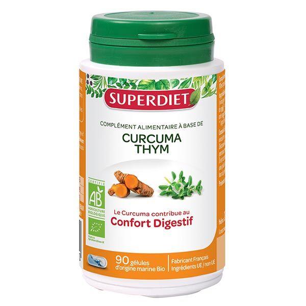 Superdiet Curcuma Thym Bio 90 gélules
