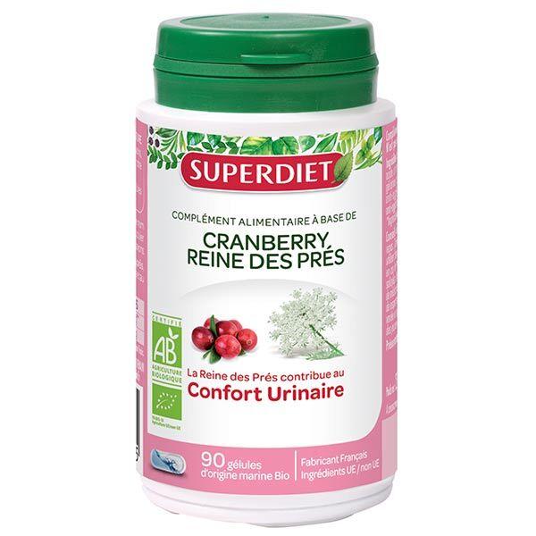 Superdiet Cranberry Reine des Pres Bio 90 gélules