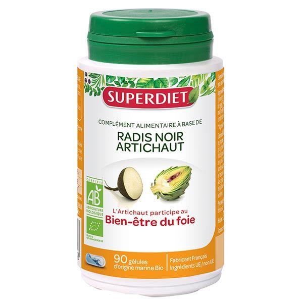Superdiet Radis Noir Artichaut Bio 90 gélules