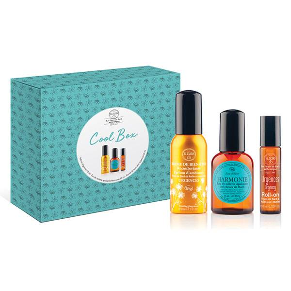Elixirs & Co Coffret Cool Box Eau de Toilette Harmonie 55ml + 1 Roll-on Urgences 10ml + 1 Brume Bien-Être Urgence 30ml