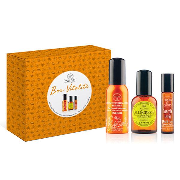 Elixirs & Co Coffret Box Vitalité Eau de Toilette Allégresse 55ml + 1 Roll-on Energie 10ml + 1 Brume Bien-Être Energie 30ml