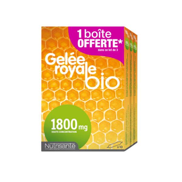 Nutrisanté Gelée Royale Bio 1800mg Lot de 3 x 10 ampoules