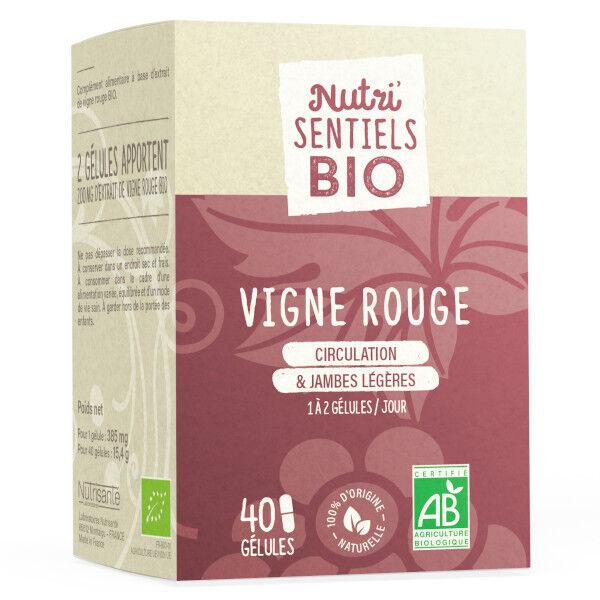 Nutrisanté Les Nutri'Sentiels Bio Vigne Rouge 40 Gélules