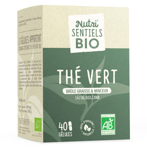 Nutrisanté Les Nutri'Sentiels Bio Thé Vert 40 gélules