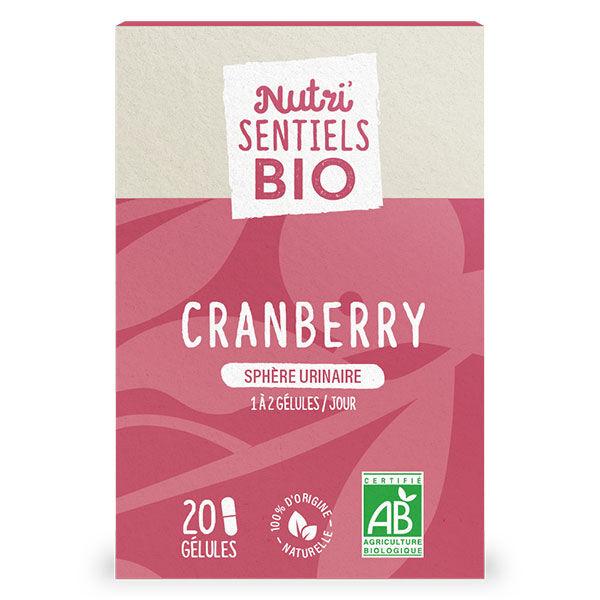 Nutrisanté Les Nutri'Sentiels Bio Cranberry 20 gélules