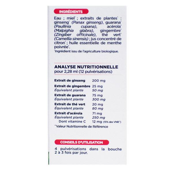 Nutrisanté Force G Bio Booster Shot Energie Immédiate Spray 15ml