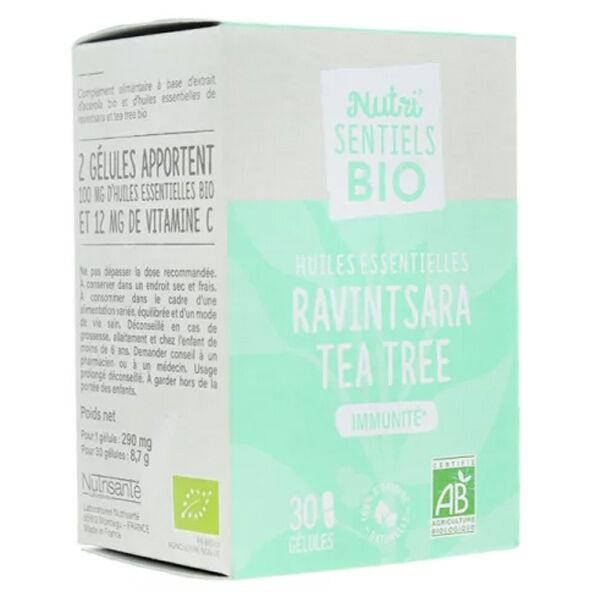Nutrisanté Les Nutri'Sentiels Bio Huiles Essentielles Ravintsara Tea Tree 30 Gélules