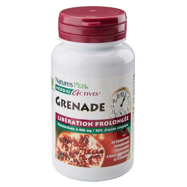 Natures Plus Herbal Actives Grenade 30 comprimés