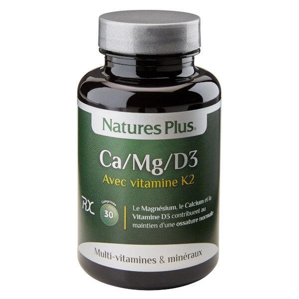 Natures Plus Ca/Mg/D3/K2 30 comprimés