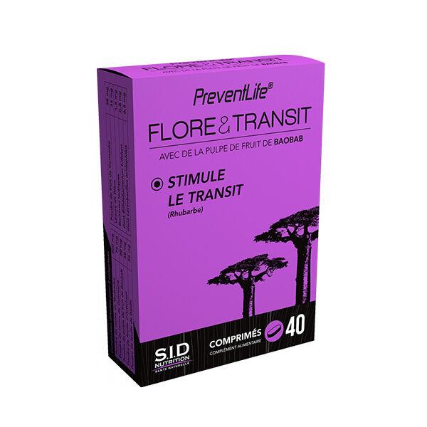 SID Nutrition Prevent Life Flore & Transit 40 comprimés