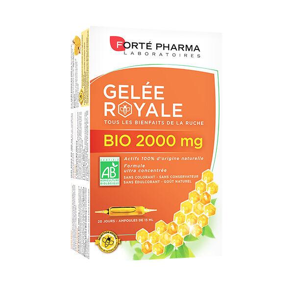 Forté Pharma Gelée Royale 2000mg + Miel de Tasmanie Bio 20 ampoules