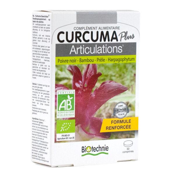 Biotechnie Curcuma Plus Articulations Bio 60 comprimés