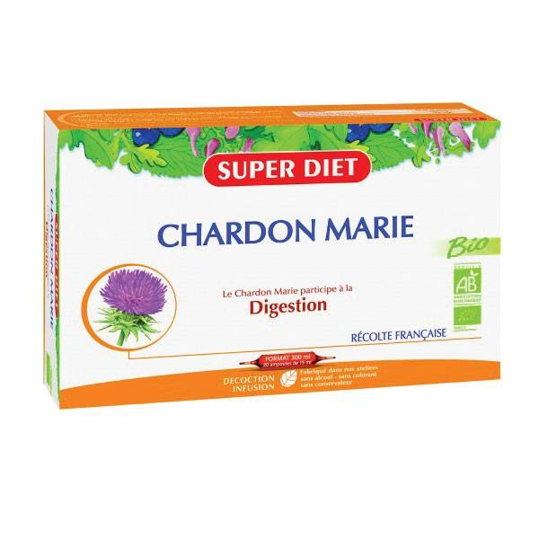 Super Diet Chardon Marie Bio 20 ampoules de 15ml
