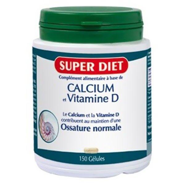 Super Diet Calcium + Vitamine D - 150 gélules