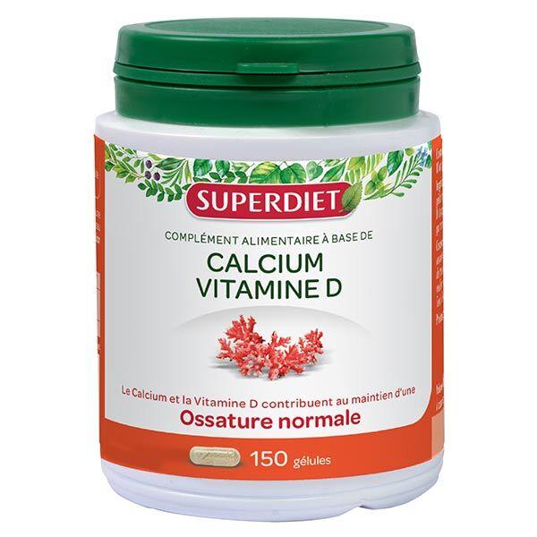 Superdiet Calcium + Vitamine D 150 gélules