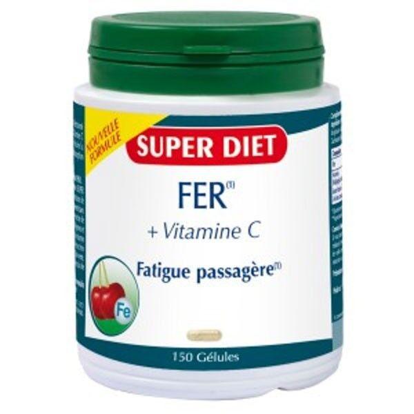 SuperDiet Super Diet Fer + Vitamine C - 150 gélules