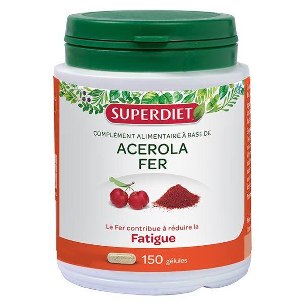 Superdiet Acérola Fer 150 gélules