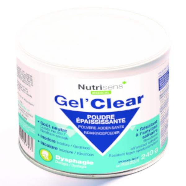 Nutrisens Gel Clear Poudre Épaississante Gout Neutre 240g