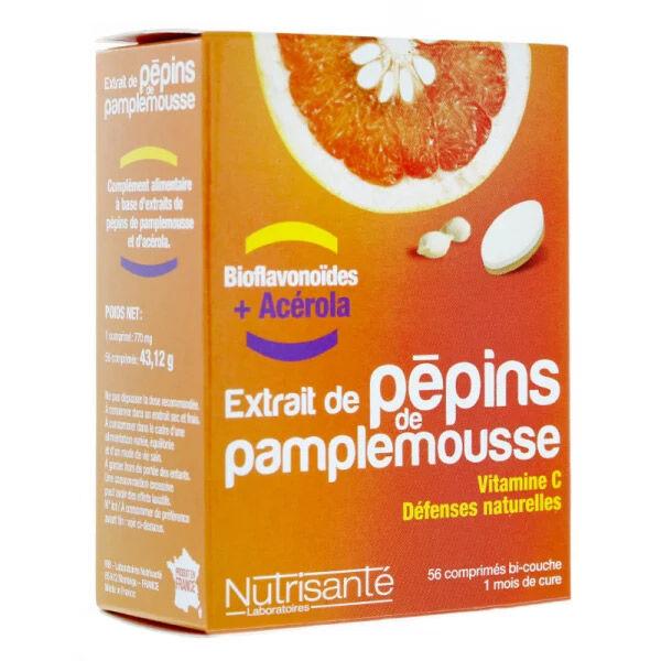 Nutrisanté Extrait Pépins de Pamplemousse 56 comprimés