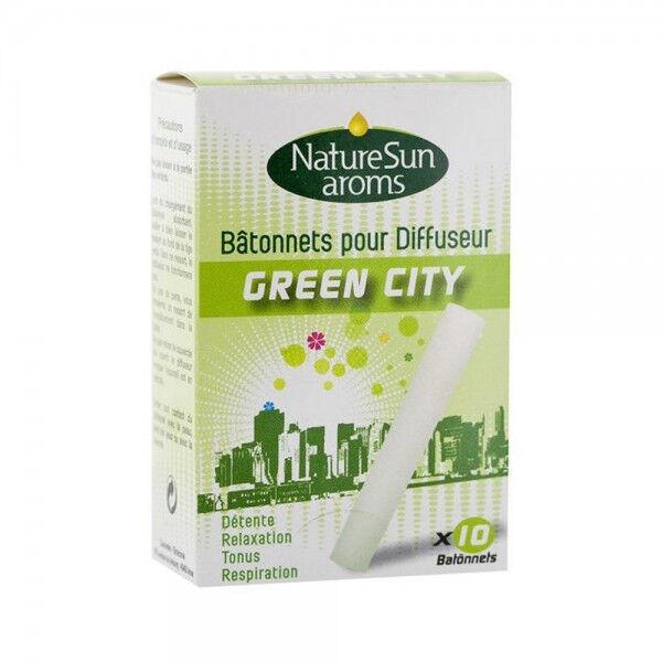 NatureSun Aroms Diffuseur Recharges Batonnets Green City