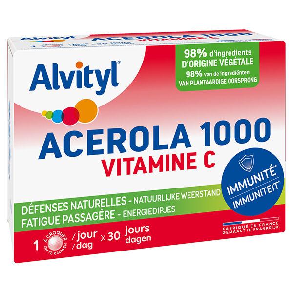 Alvityl Acerola 1000 Vitamine C 30 comprimés à croquer