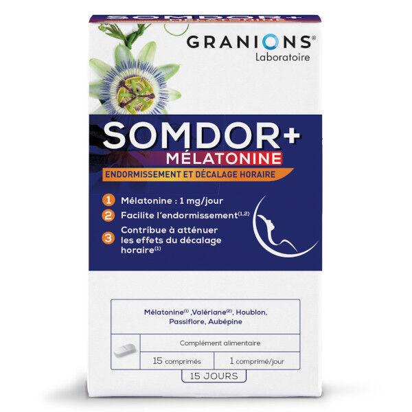 Laboratoire des Granions Granions Somdor+ Mélatonine 15 comprimés