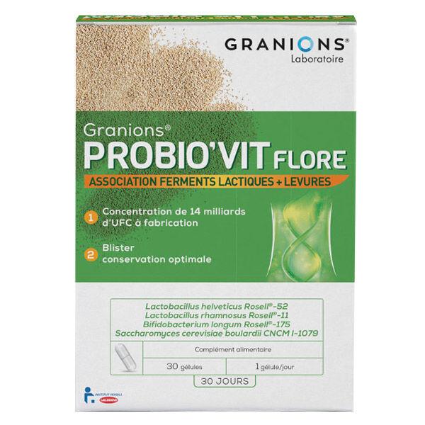 Laboratoire des Granions Granions Probio'Vit Flore 30 gélules