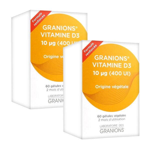 Laboratoire des Granions Granions Vitamine D3 Lot de 2 x 60 gélules
