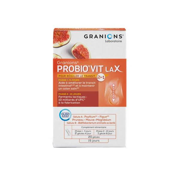 Granions Probio'Vit Lax 20 gélules
