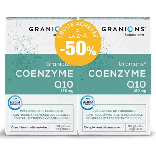 Laboratoire des Granions Granions Coenzyme Q10 Lot de 2 x 30 gélules végétales