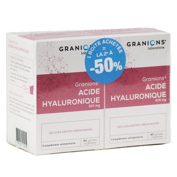 Laboratoire des Granions Granions Acide Hyaluronique Lot de 2 x 60 gélules végétales