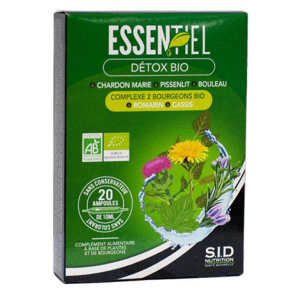 SID Nutrition Essentiel Détox Bio 20 ampoules