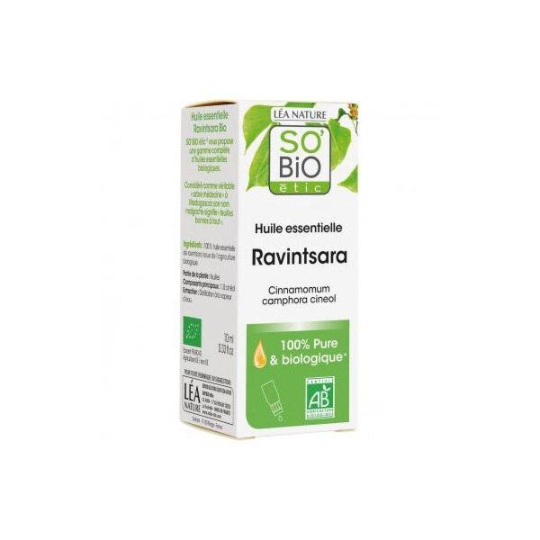 So Bio Etic So'Bio Etic Huile Essentielle Ravintsara Biologique 10ml