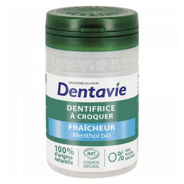 Dentavie Dentifrice à Croquer Fraîcheur Menthol Bio 60 comprimés