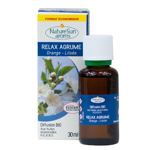 NatureSun Aroms Complexe Diffusion Bio Relax Agrum 30ml