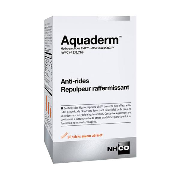 Nhco Aquaderm Anti-Rides Repulpeur Raffermissant 20 sticks