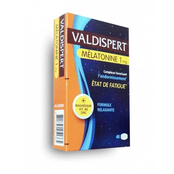 Valdispert Mélatonine 1mg État de Fatigue 40 comprimés