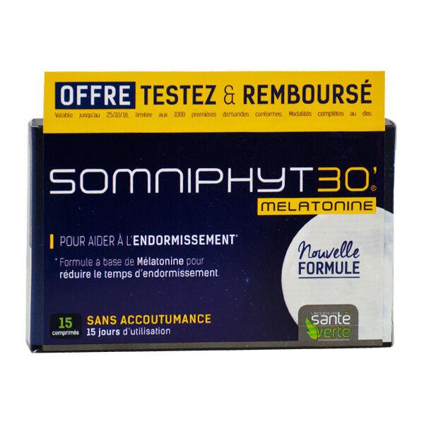 Santé Verte Somniphyt Total Nuit Mélatonine 1mg 15 comprimés