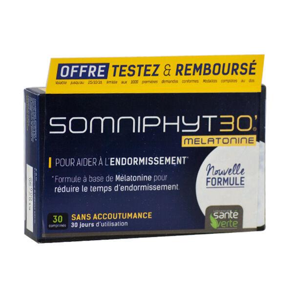Santé Verte Somniphyt Total Nuit Mélatonine 1mg 30 comprimés