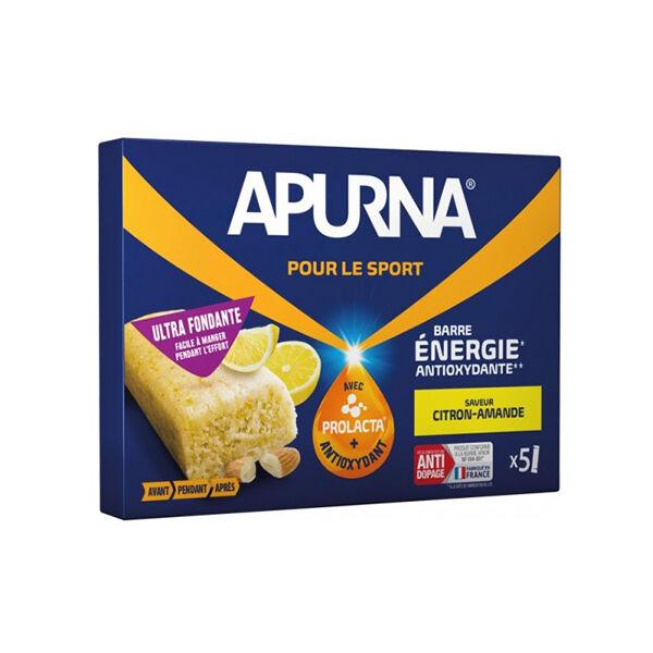 Apurna Barre Energie Ultra Fondante Citron Amande Etui 5 barres