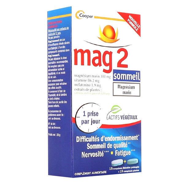 Cooper Mag 2 Sommeil Magnésium Marin 30 comprimés