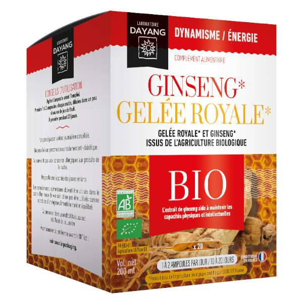 Dayang Ginseng Gelée Royale Bio 20 ampoules