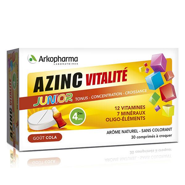 Arkopharma Azinc Junior Goût Cola Vitamines C & E Zinc 30 comprimés