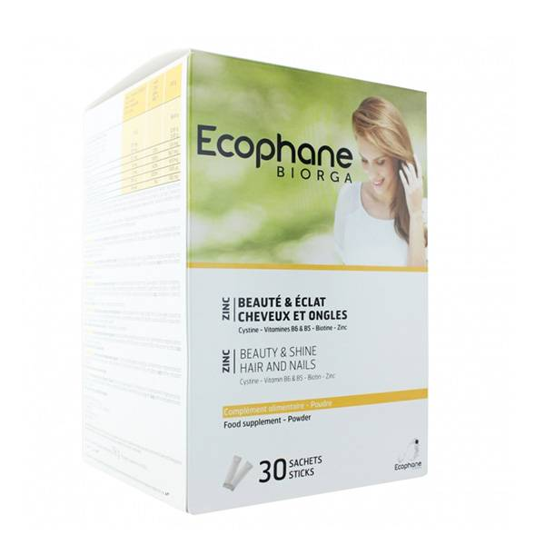 Bailleul Biorga Ecophane Beauté & Eclat Cheveux et Ongles 30 sachets