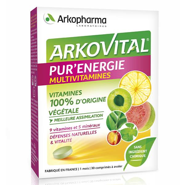 Arkopharma Arkovital Pur'Energie Multivitamines & Minéraux 30 comprimés