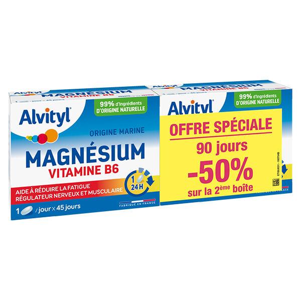 Alvityl Magnésium Vitamine B6 Lot de 2 x 45 comprimés