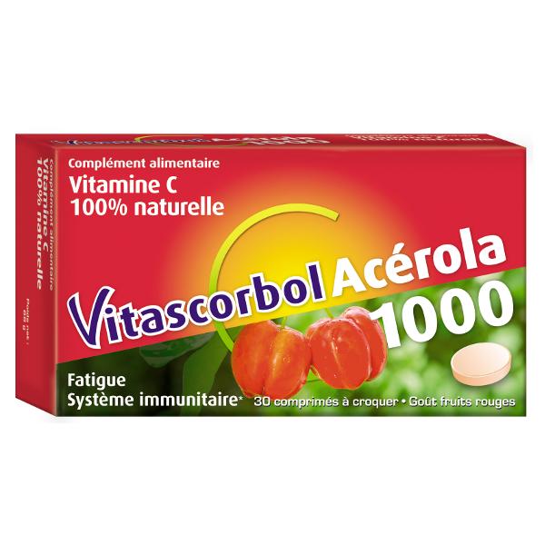 Cooper Vitascorbol Acérola 1000 30 comprimés