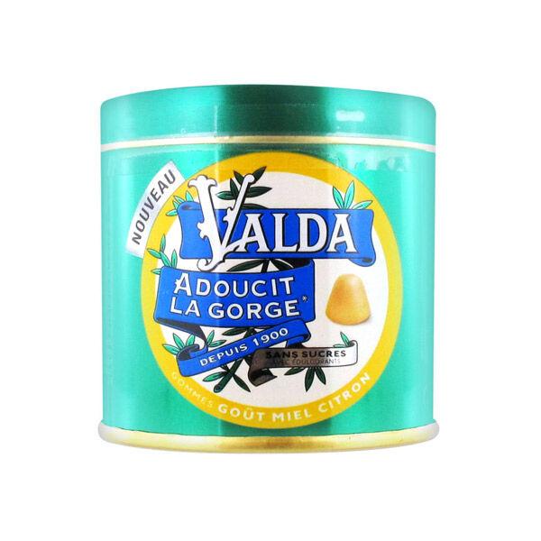 Valda Gommes Sans Sucre Goût Miel Citron 160g